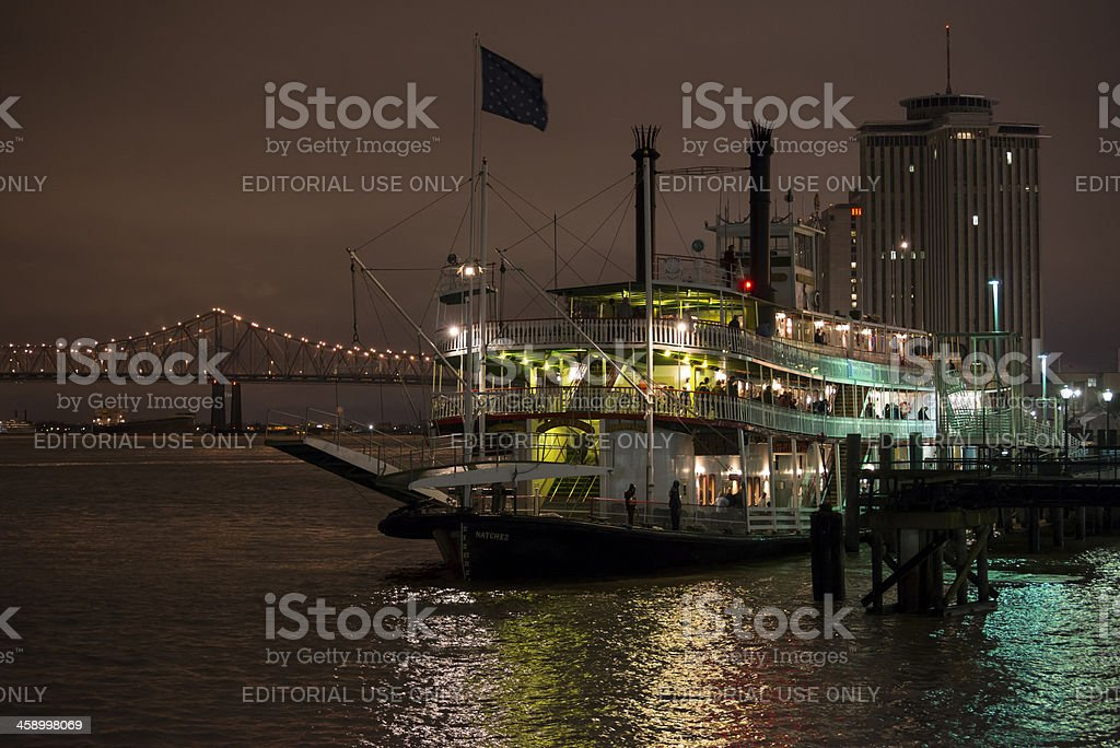 Steamboat Natchez on the Mississippi River in New Orleans royalty-free stock photo