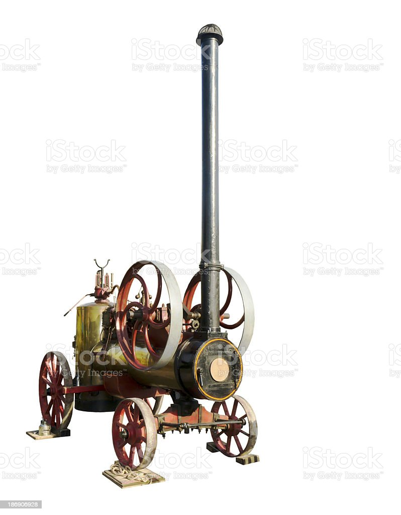 The  steam-engine stock photo