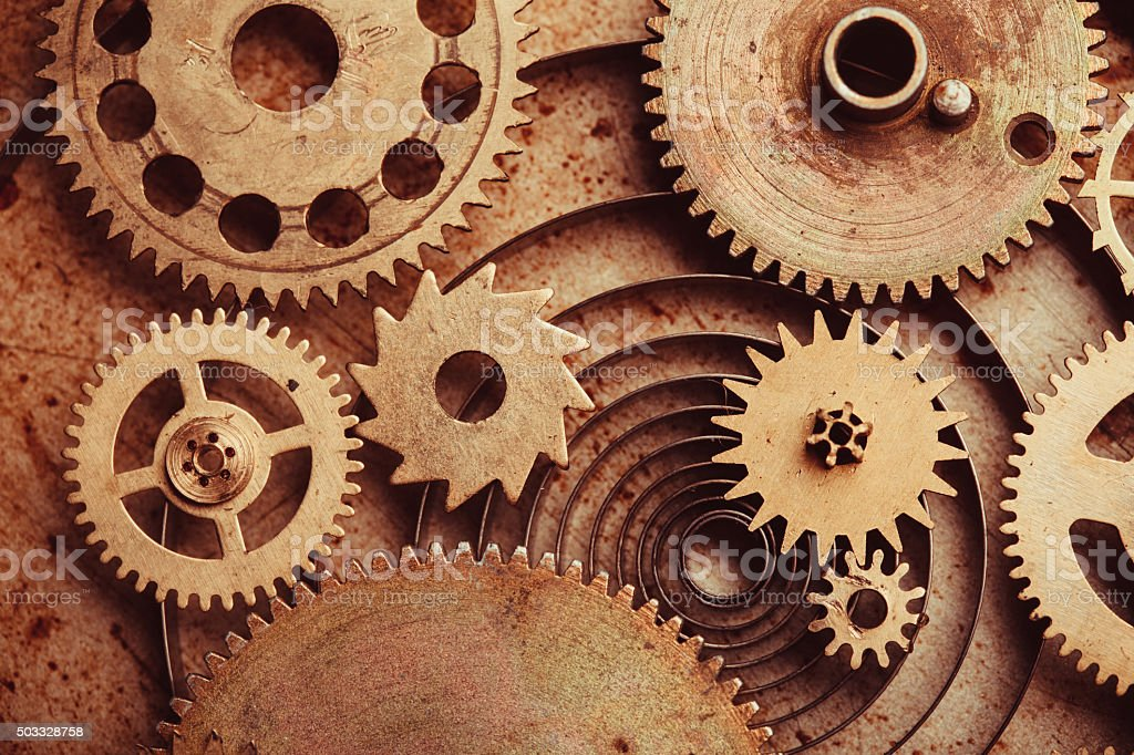 The Steampunk background stock photo