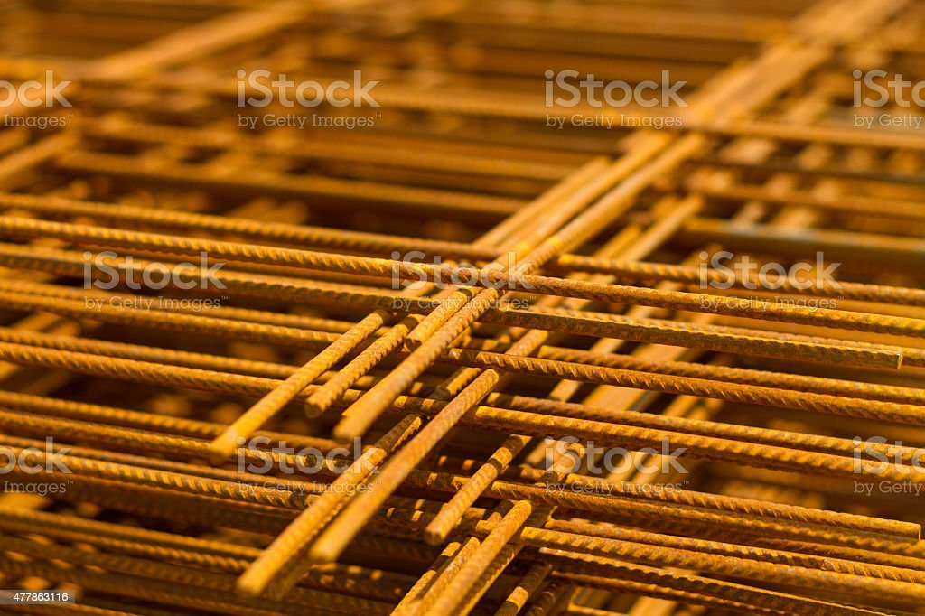 The steel building materials stock photo