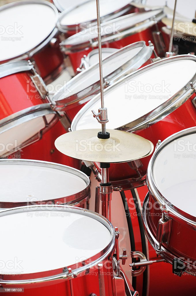 The steel drum and cymbals royalty-free stock photo
