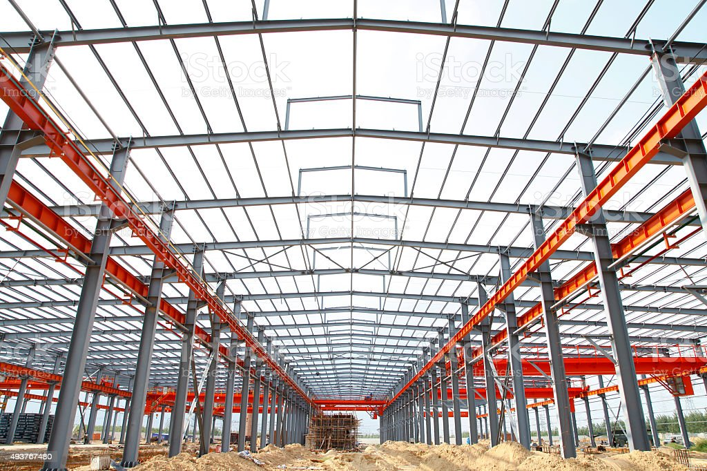 The steel structure stock photo