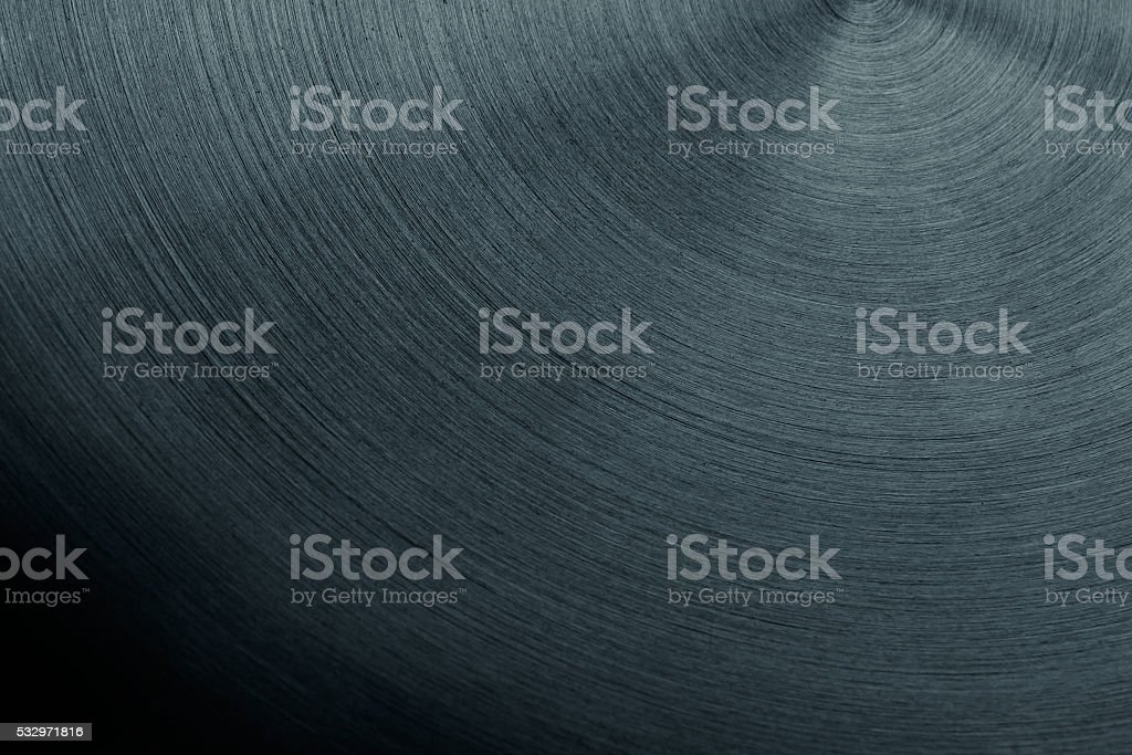 The steel surface with the semicircular lines. stock photo