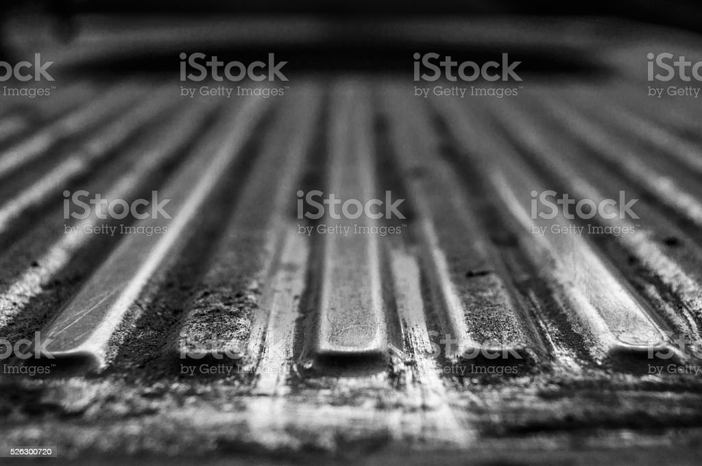 The steel way to the hole,dirty .. stock photo