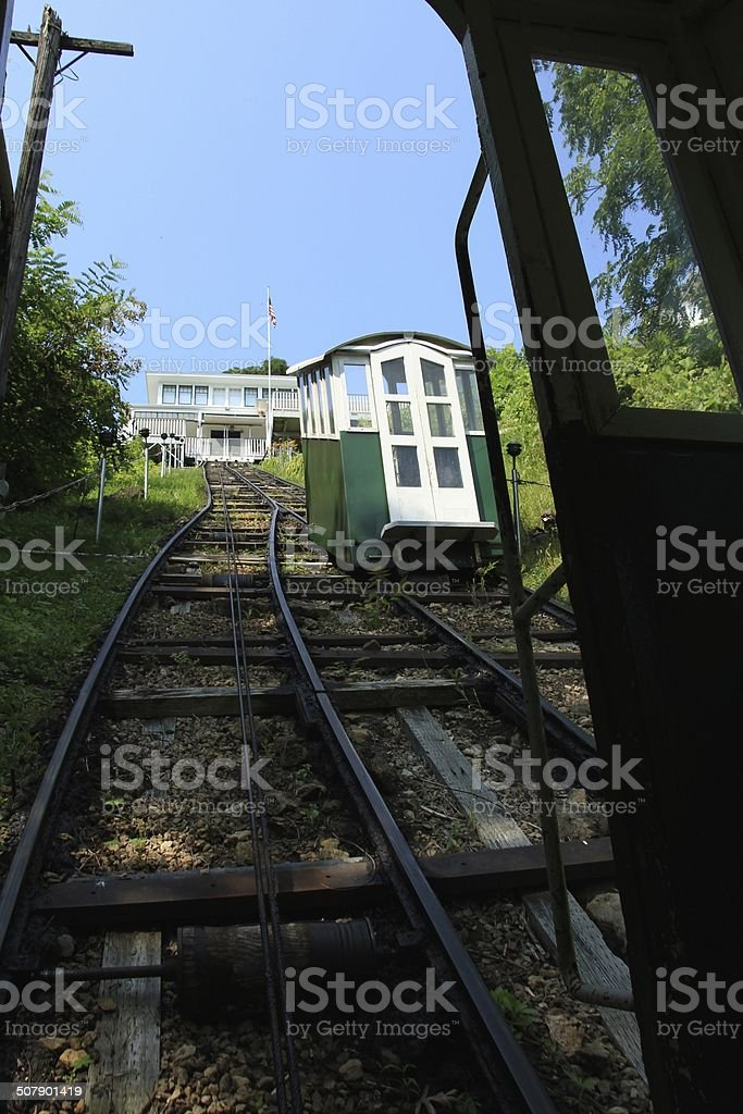 The steepest tram in North America stock photo