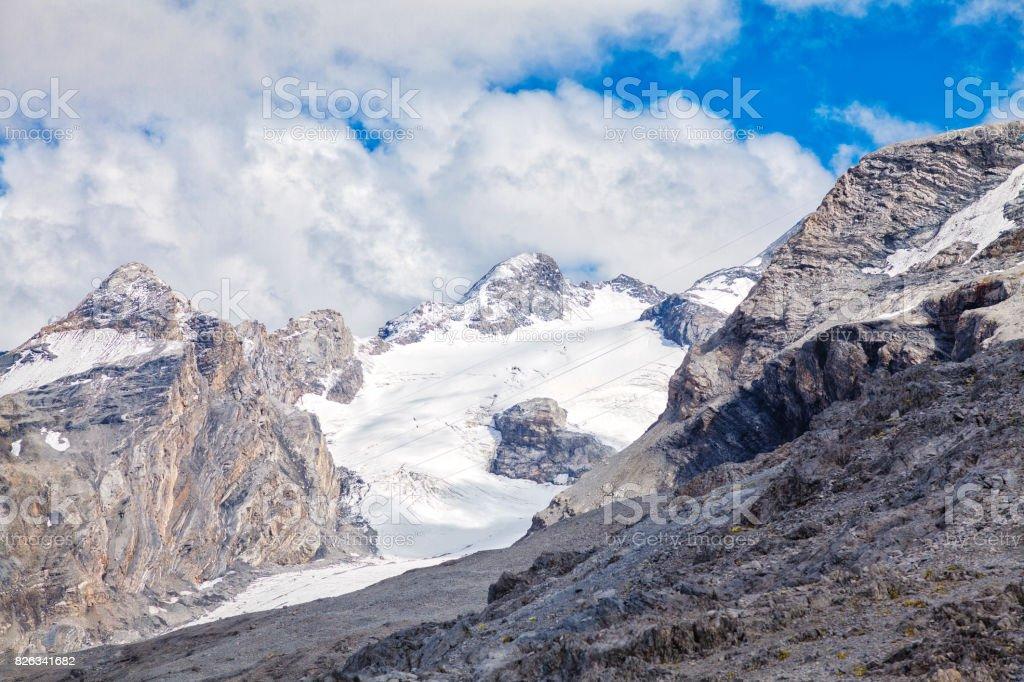 The Stelvio Glacier. Color image stock photo