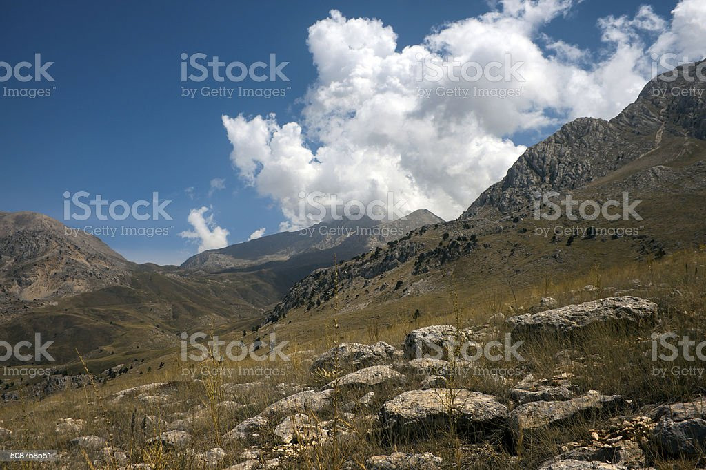 The steppe and the clouds royalty-free stock photo