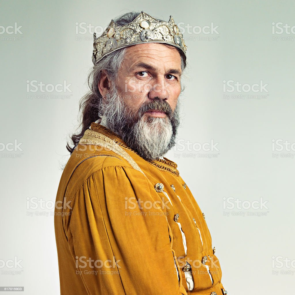 The stern face of ruling stock photo