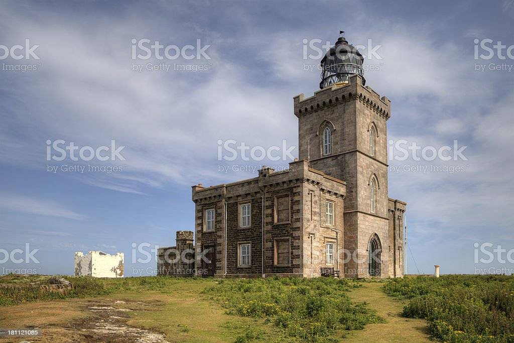 The Stevenson Lighthouse, Isle of May, Scotland royalty-free stock photo