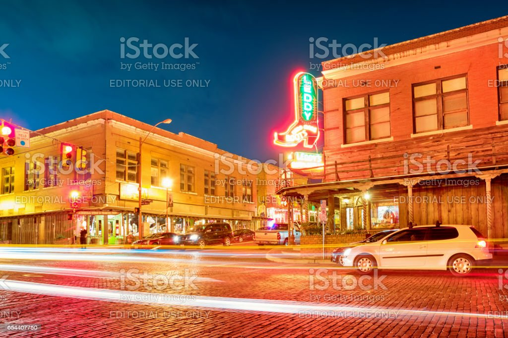 The Stockyards in Fort Worth Texas USA stock photo