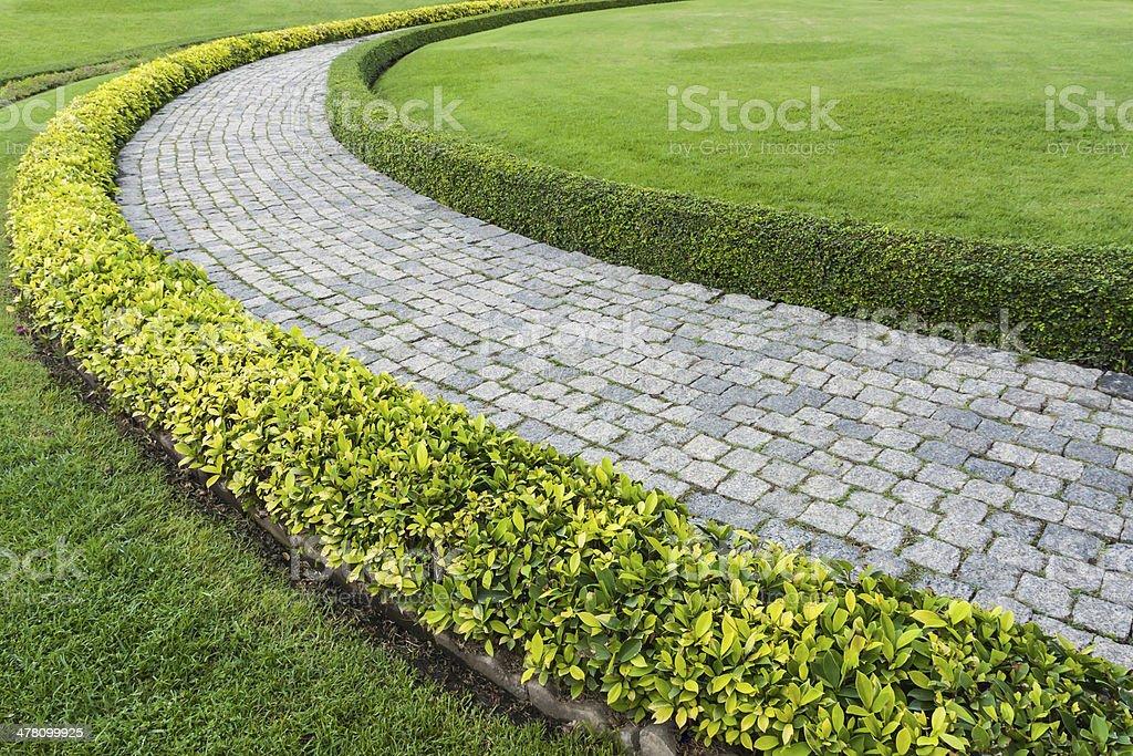 The Stone block walk path royalty-free stock photo