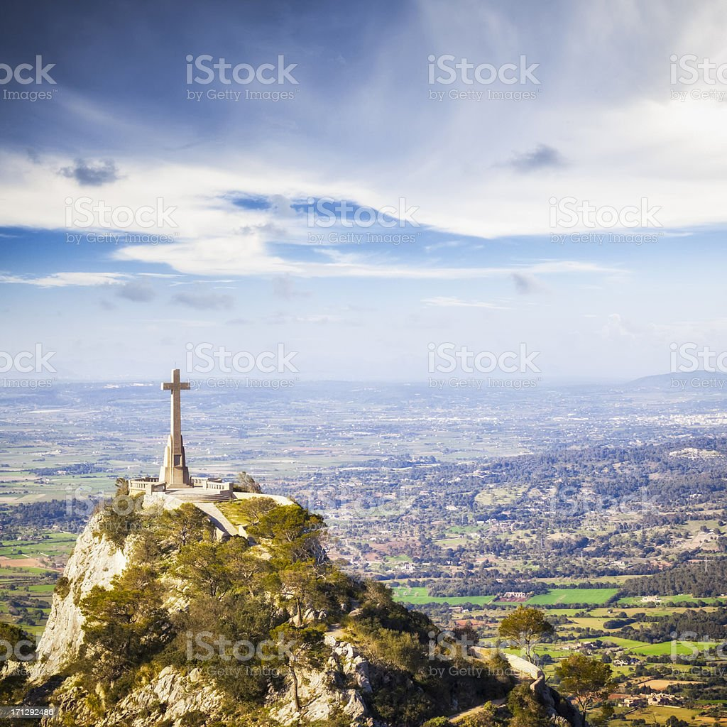 The Stone Cross of Sant Salvador royalty-free stock photo