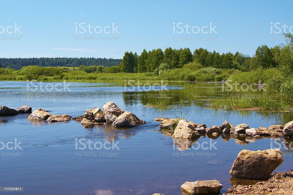 The stones in river royalty-free stock photo