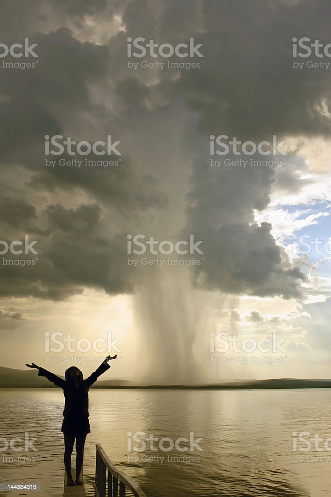 the storm girl royalty-free stock photo