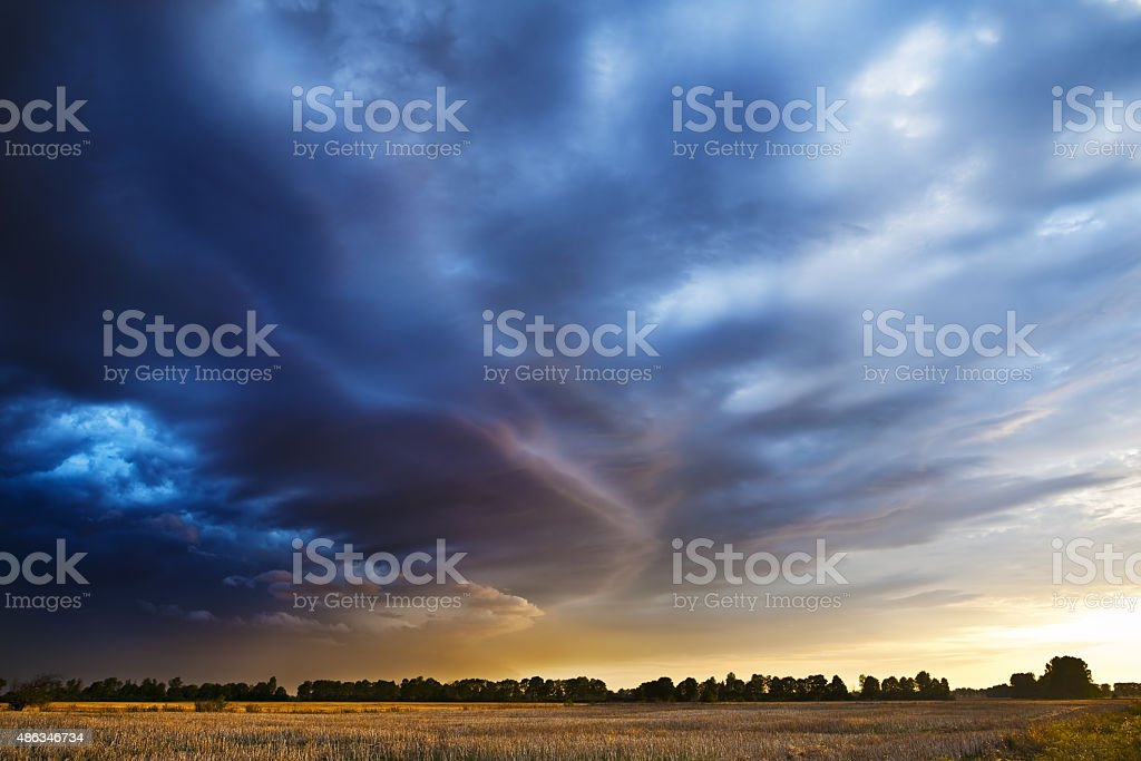The storm is coming. stock photo