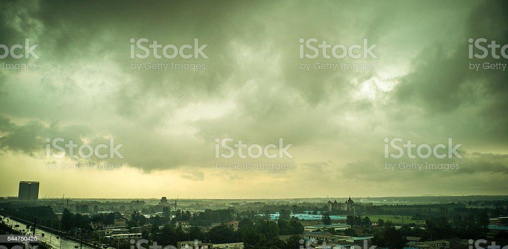The storm stock photo