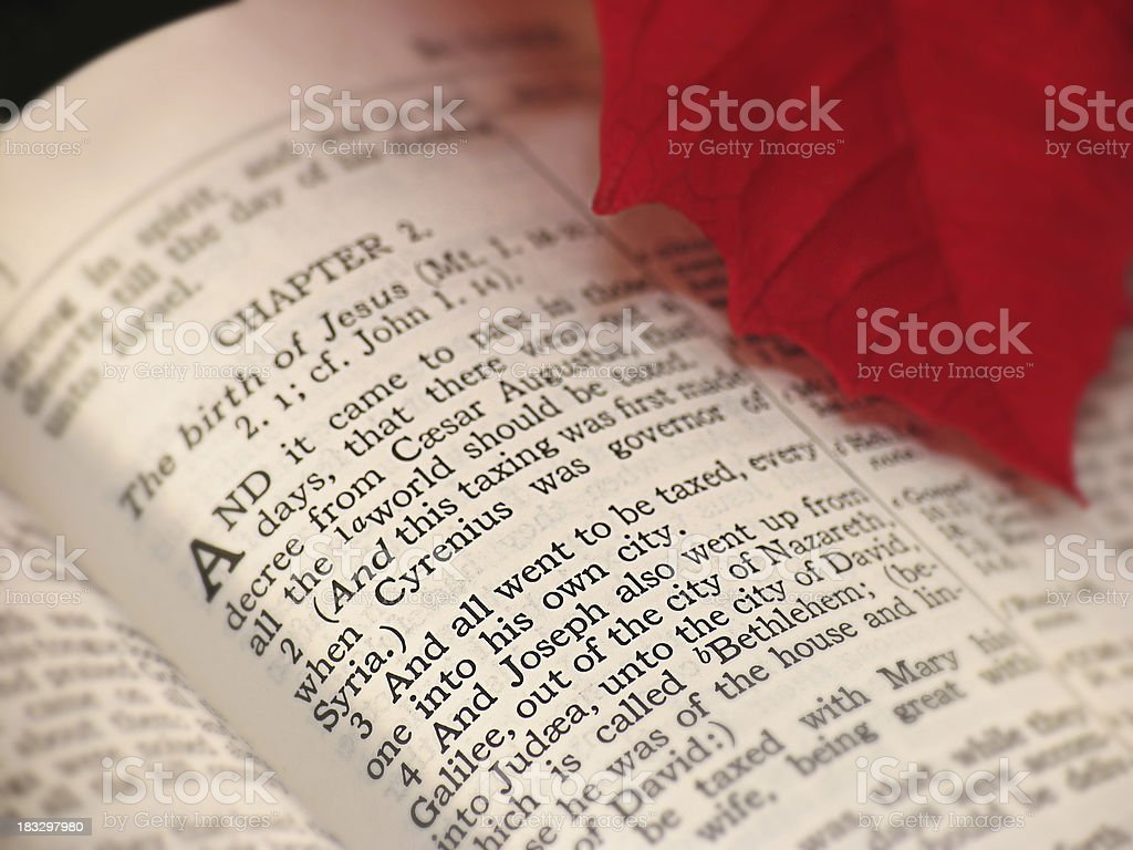 The Story of Christmas (KJV) stock photo