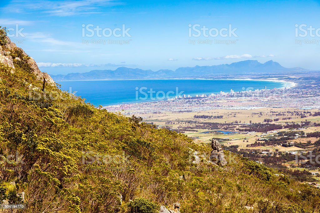The Strand and Somerset West in Cape Town stock photo