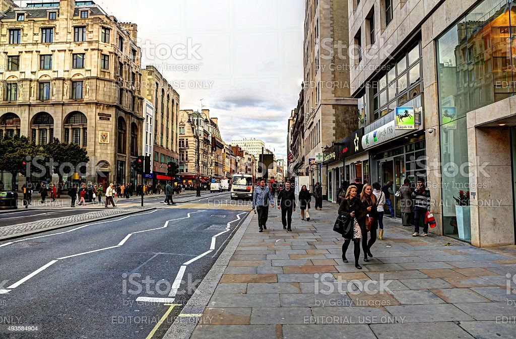 The Strand in the afternoon stock photo