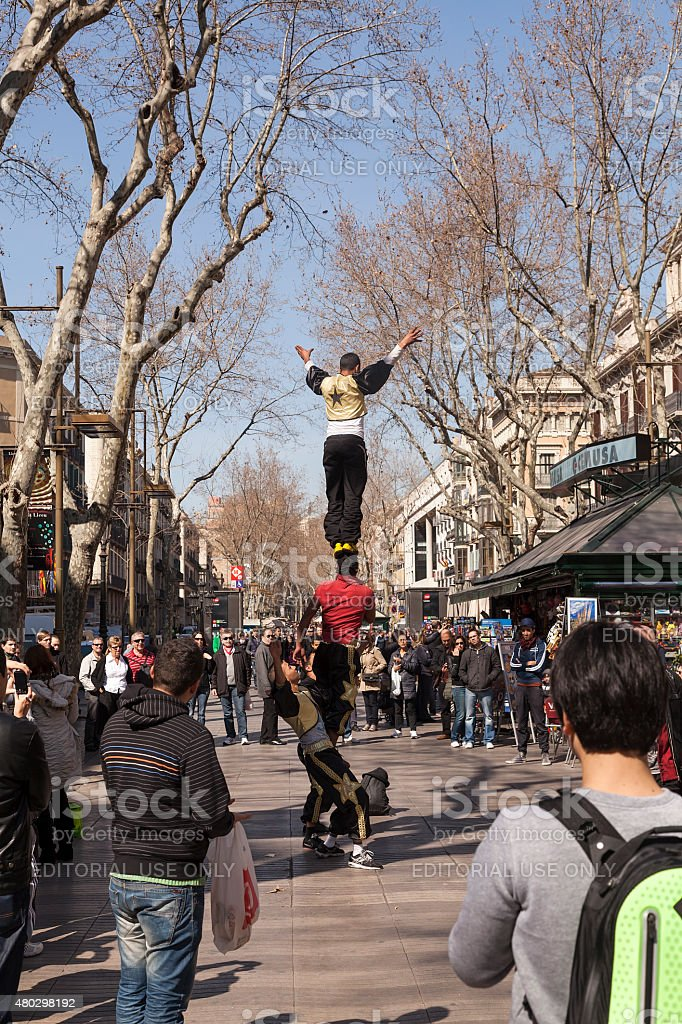 The street artists of Barcelona royalty-free stock photo