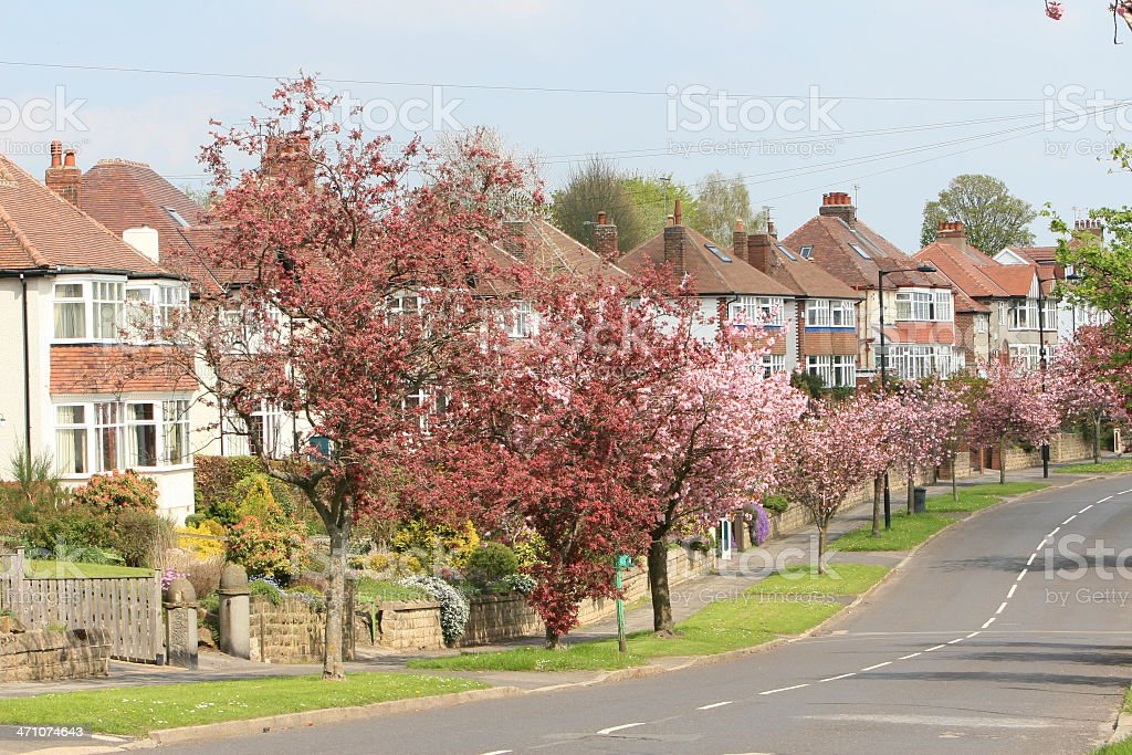 The Street, Bents Green, Sheffield Suburb, South Yorkshire stock photo