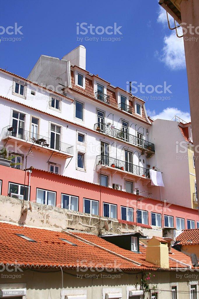 The street in Lisbon stock photo