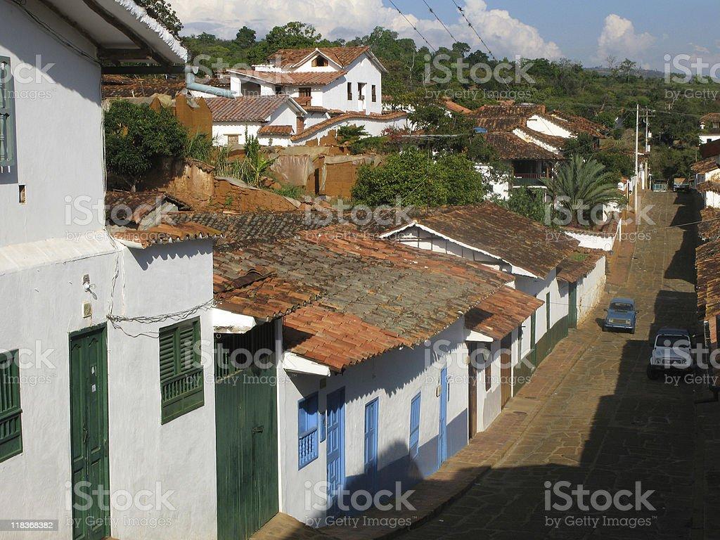 The street of Barichara royalty-free stock photo