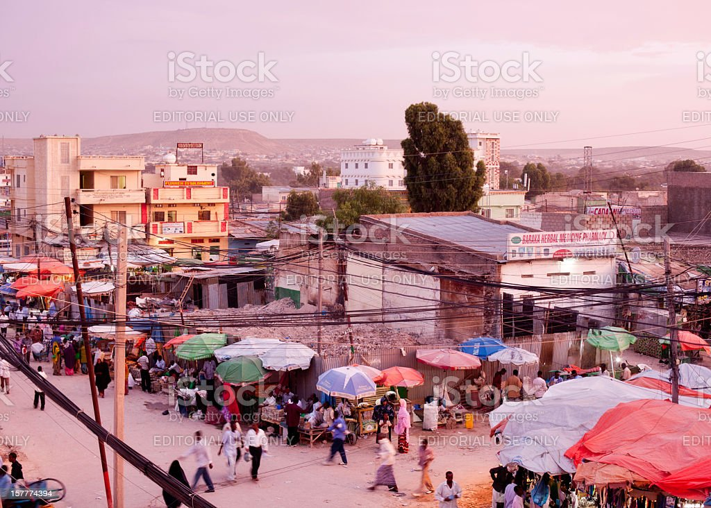 The Streets of Hargeisa, Somaliland stock photo
