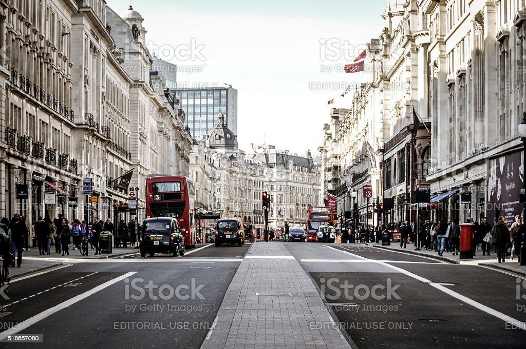 The streets of London - Regent Street stock photo