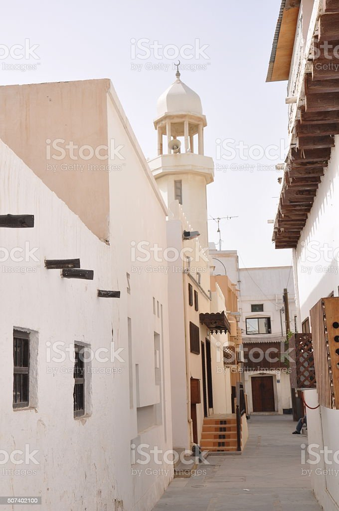 The streets of Muharraq, Bahrain stock photo