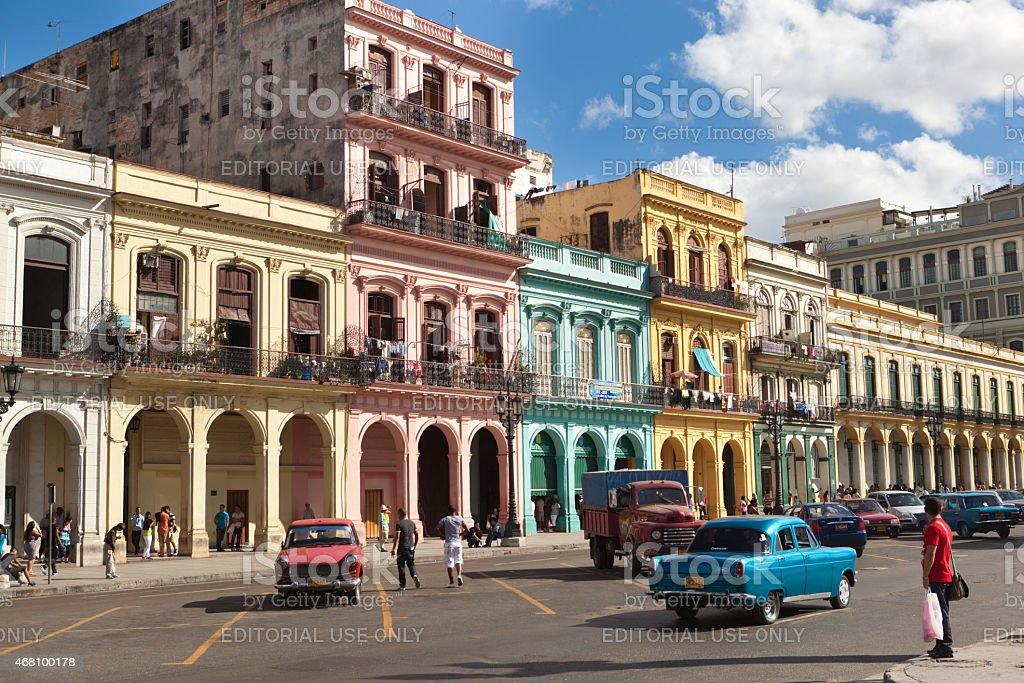The Streets of Old Havana Cuba stock photo