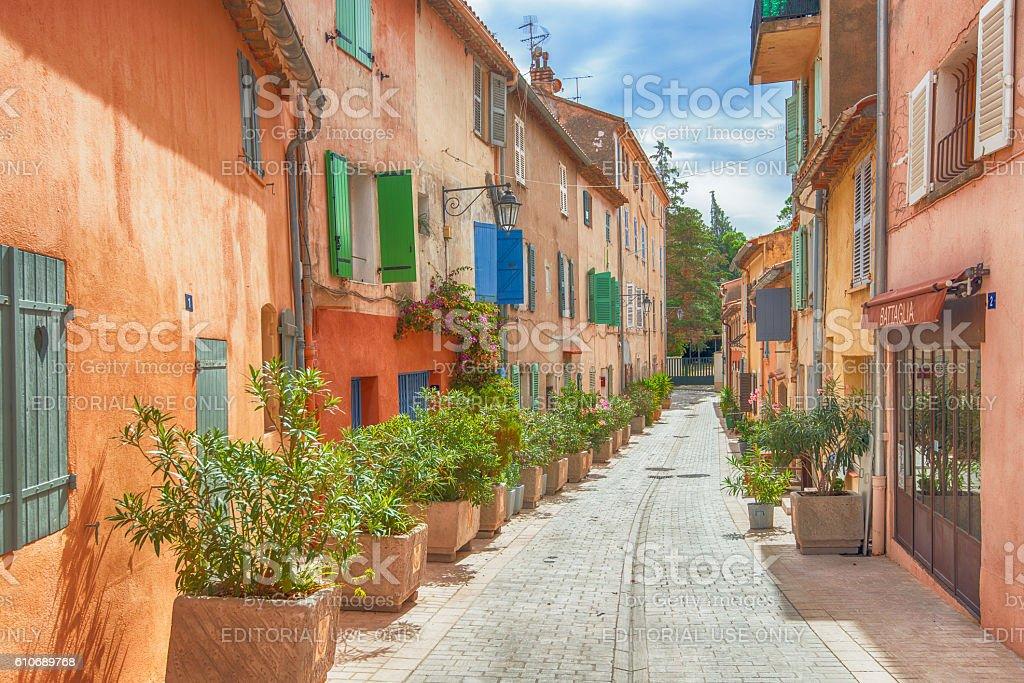 the streets of Saint-Tropez stock photo
