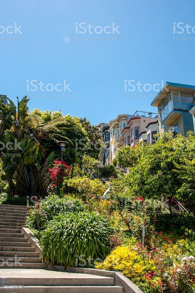 The streets of San Francisco, California USA stock photo