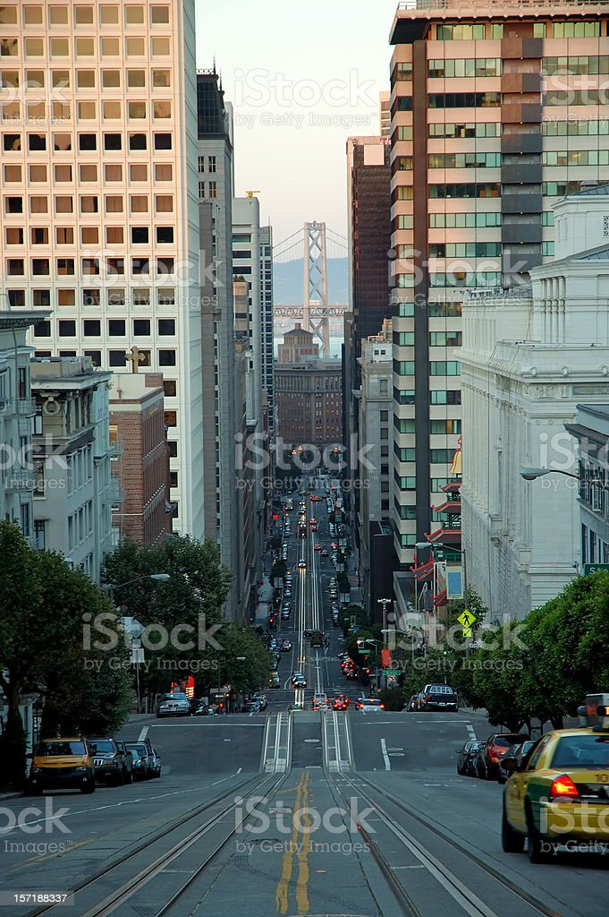 The streets of San Francisco royalty-free stock photo
