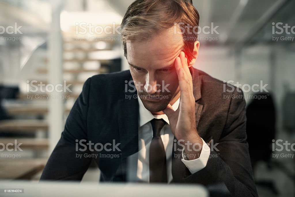 The stressful side of success stock photo