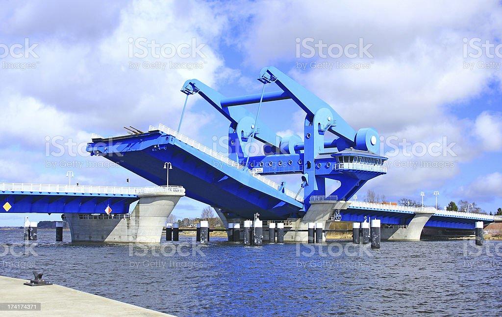 The stroke bridge of Wolgast, Baltic Sea, Germany stock photo