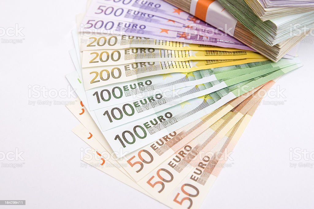 The Strong Euro Money royalty-free stock photo