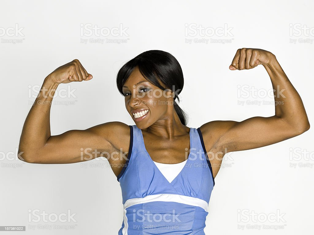 The Strongest girl on earth royalty-free stock photo