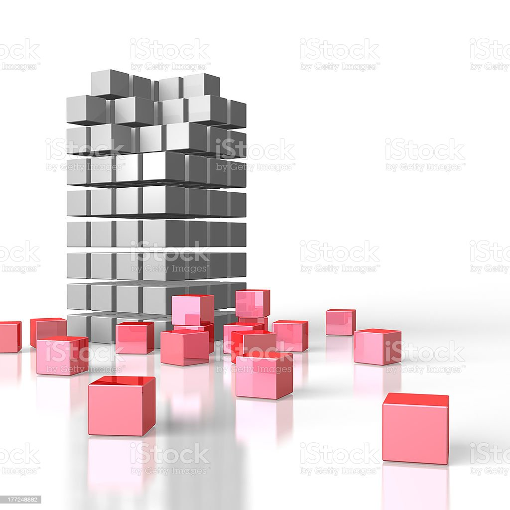 The structure was destroyed. royalty-free stock photo