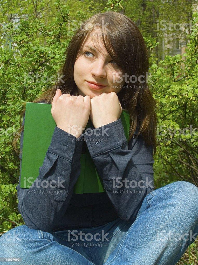 The student before examination stock photo