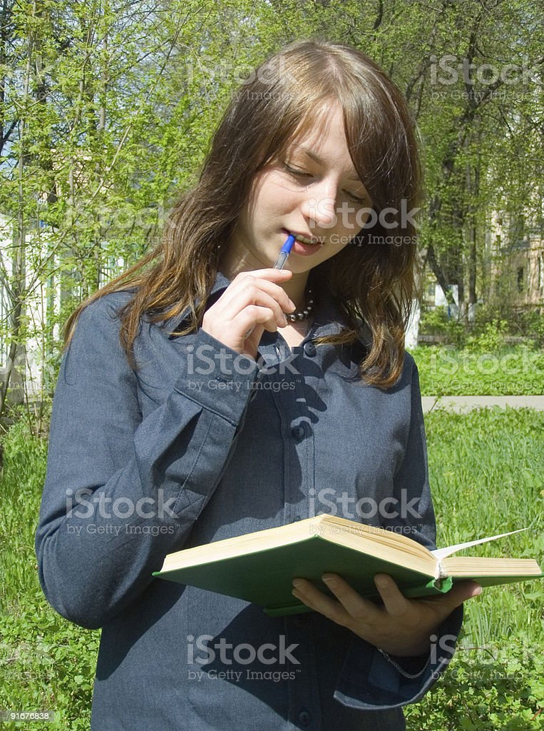 The student before examination royalty-free stock photo