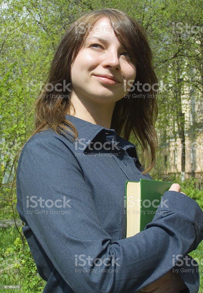 The student before examination royalty-free stock photo
