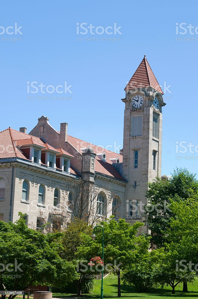 The Student Building and grounds at Indiana University stock photo