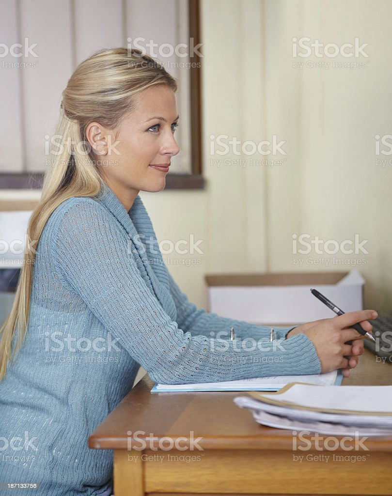 The students are getting much better! stock photo