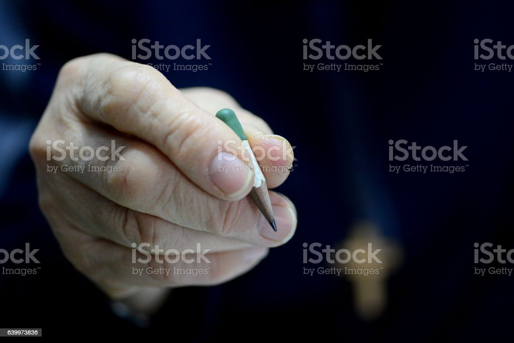 the stump of a pencil stock photo