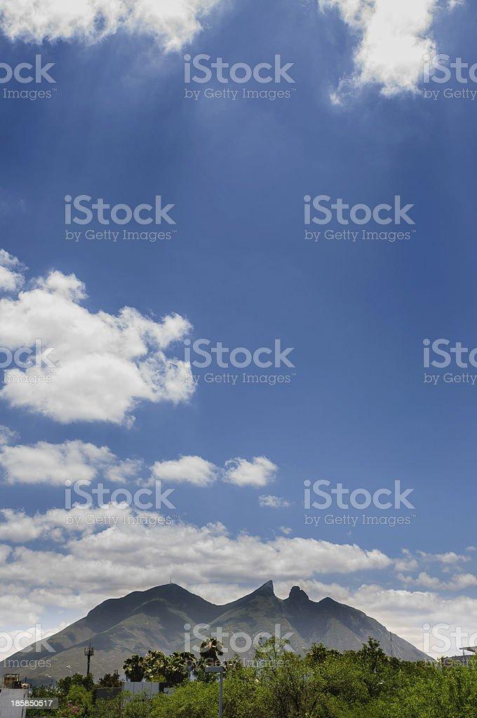 The stunning Cerro De La Silla in Monterrey stock photo