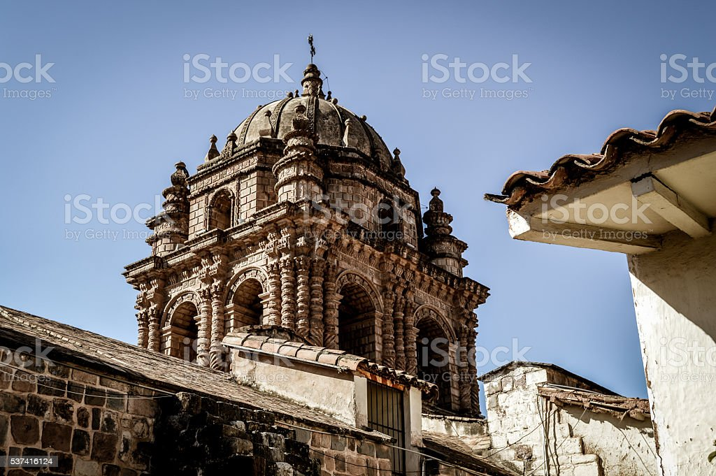 The stunning colonial city of Cusco, Peru stock photo