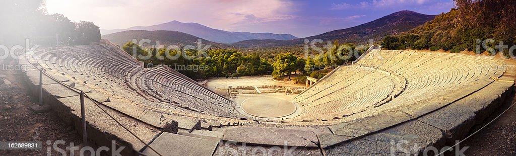 The stunning Epidaurus theatre royalty-free stock photo