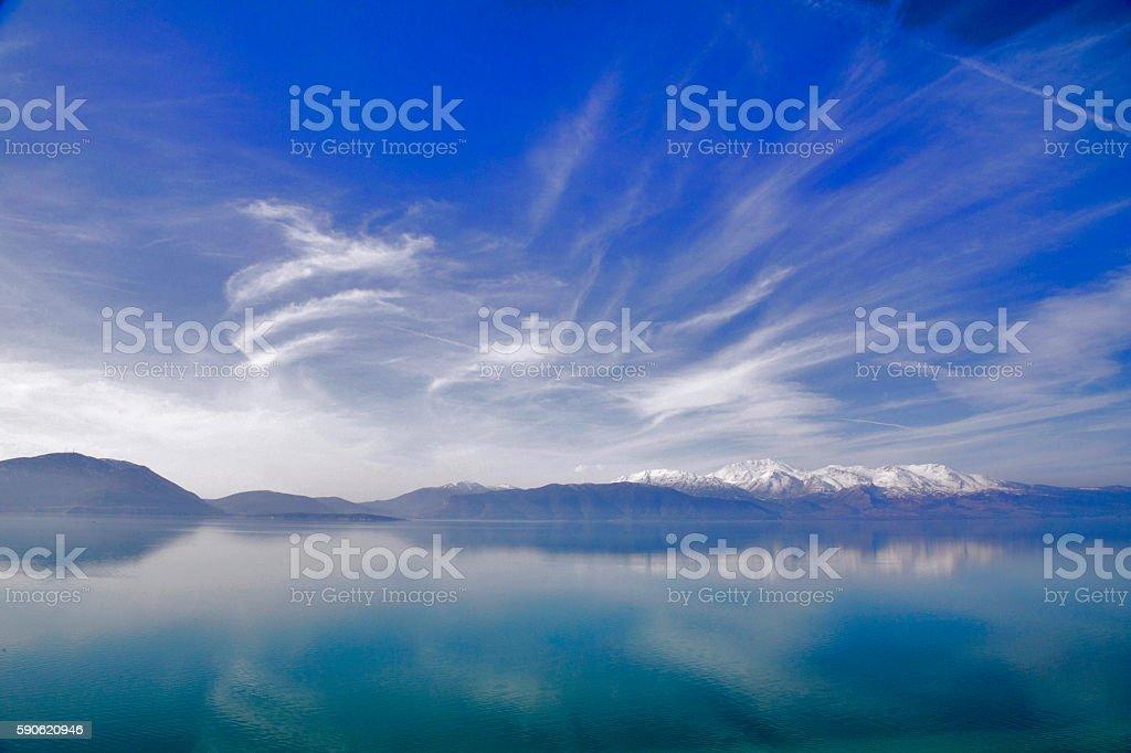 The stunning view of Egirdir Lake. stock photo