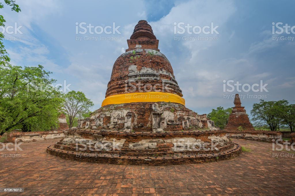 The stupa at Wat Maheyong stock photo
